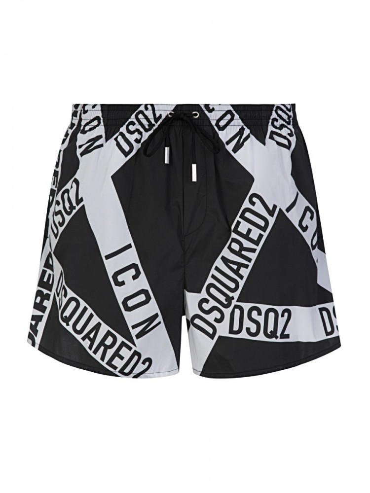 Dsquared2 Black Tape Swim Shorts