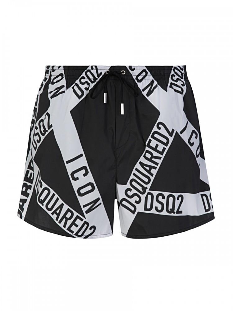 Dsquared2 Black Tape Swim Shorts