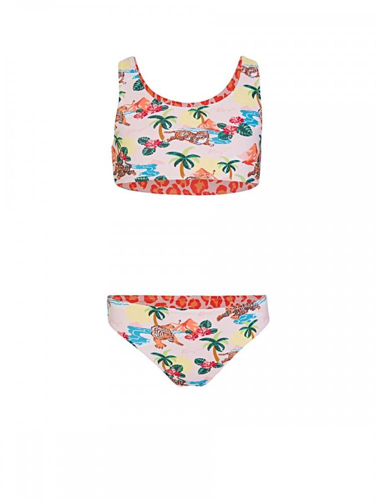 Kenzo Kids Pink Jumping Tiger Bikini Set
