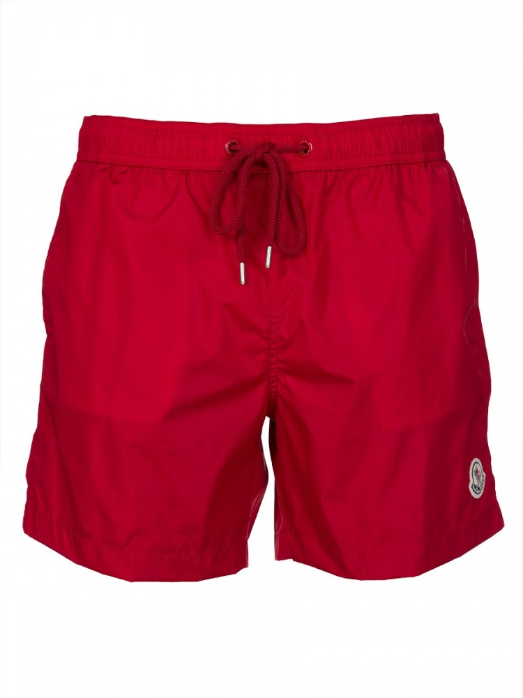 Moncler Red Patch Swimshorts