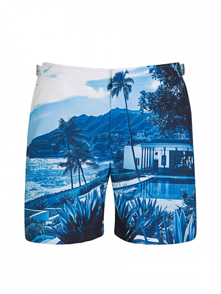 Orlebar Brown Blue View Bulldog Swim Shorts