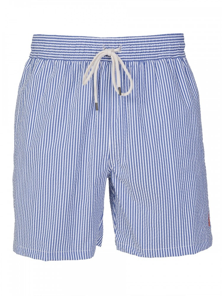 Polo Ralph Lauren Blue Stripe Traveler Swim Shorts