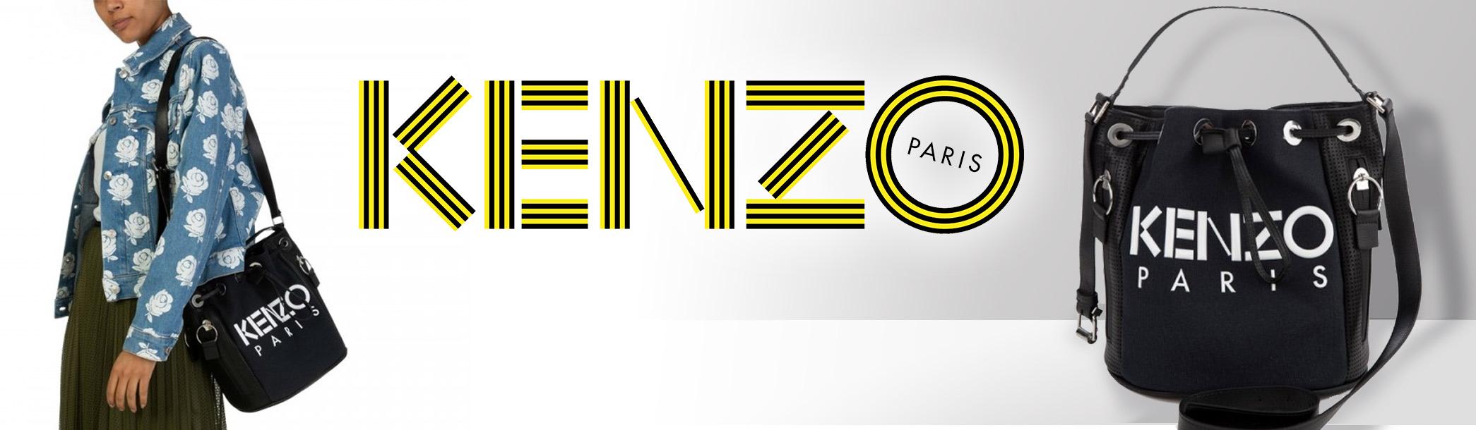 Staff Pick: Kenzo Black Logo Bucket Bag