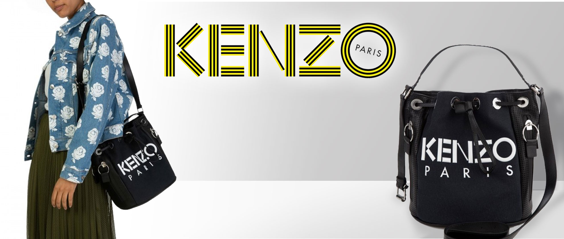 Staff Pick: Kenzo Black Logo Bucket Bag