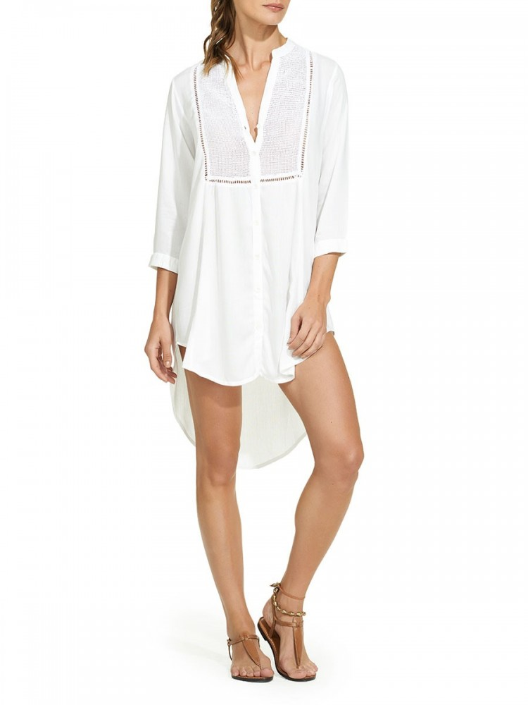 ViX Paula Hermanny White Beach Cover-Up