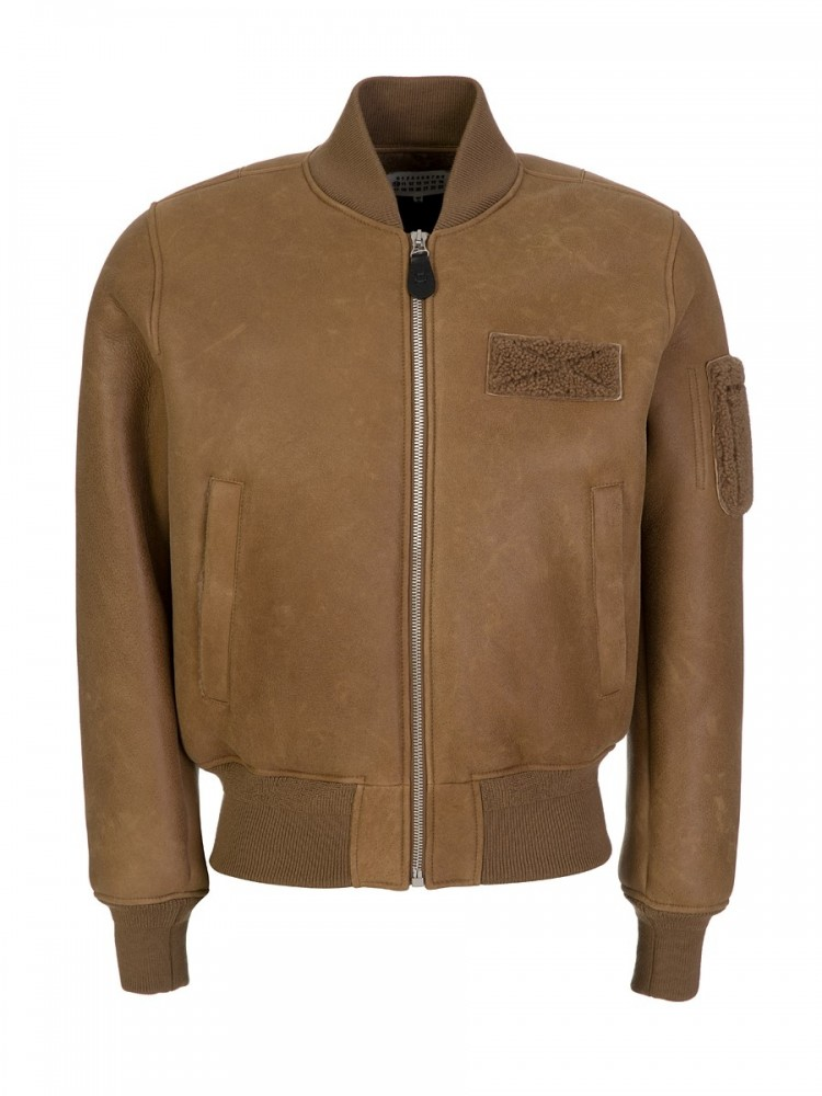 Maison Margiela Brown Bomber Jacket