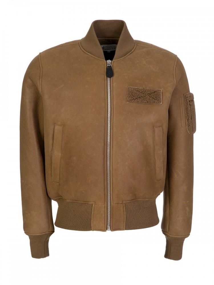 Maison Margiela Brown Bomber Jacket