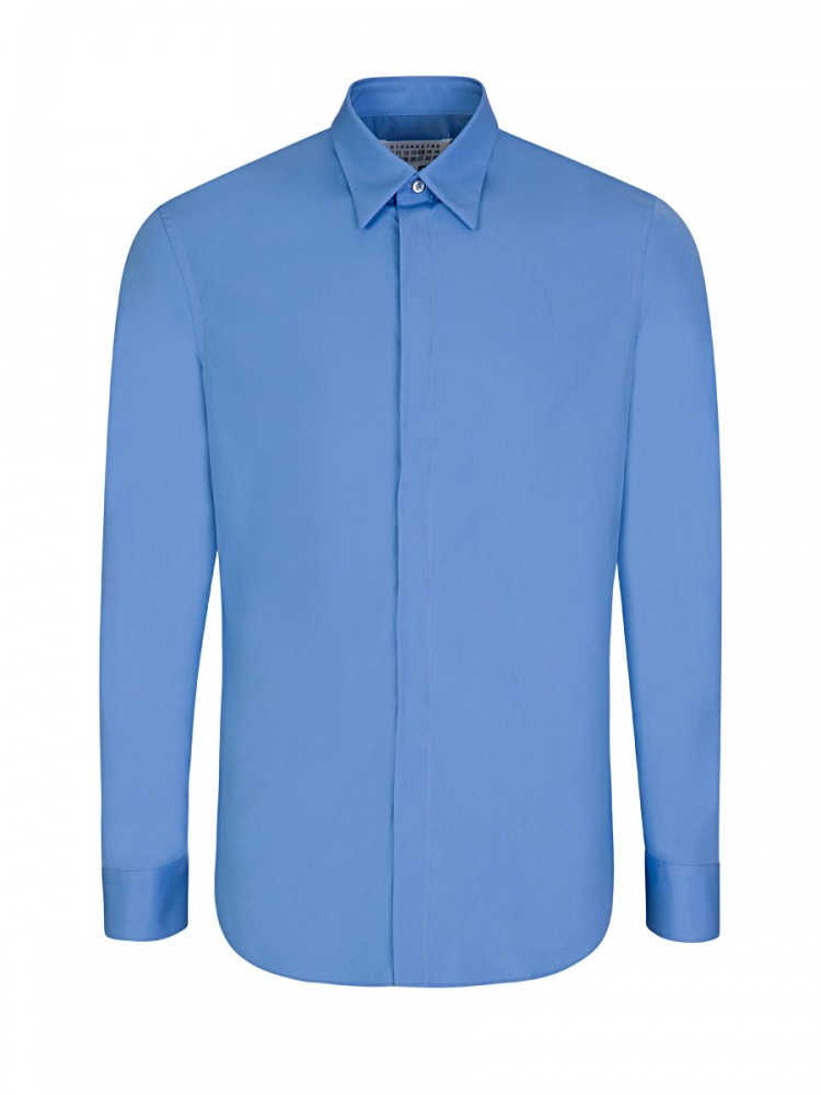 Maison Margiela Blue Slim-Fit Shirt