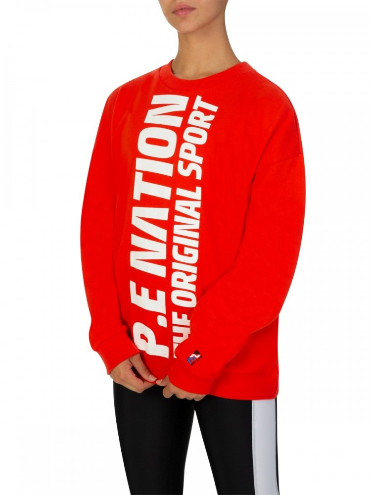 P.E Nation Red Original Sport Sweatshirt