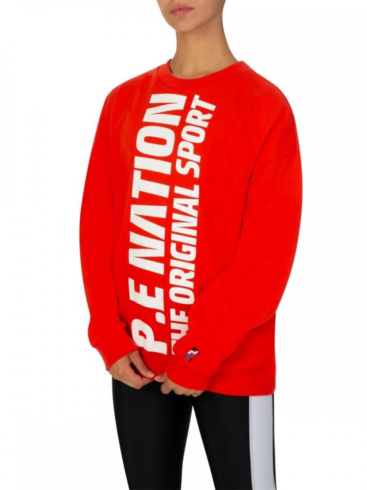 P.E Nation Red Original Sport Sweatshirt