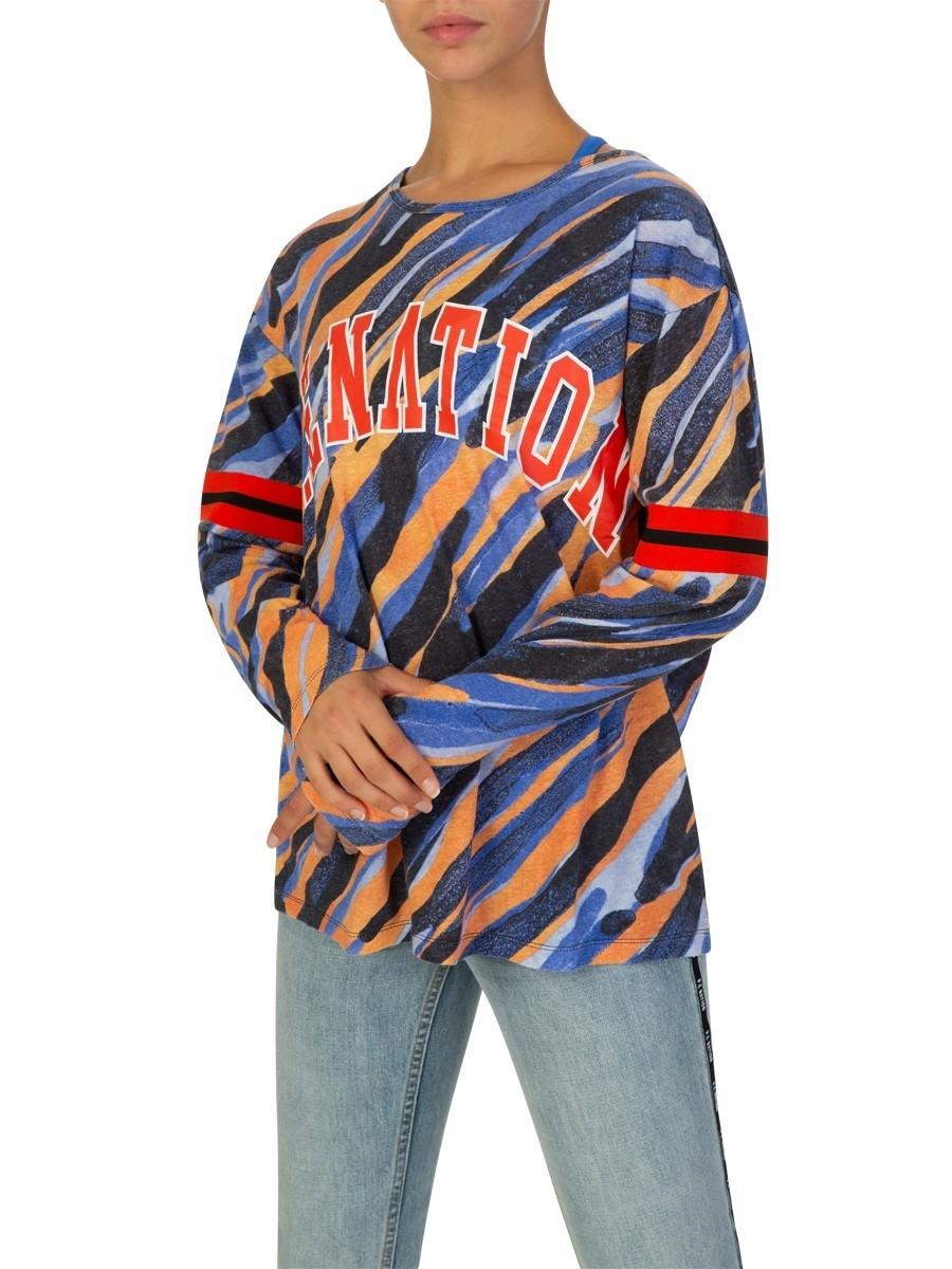 P.E Nation Black Long-Sleeve Influx Printed T-Shirt