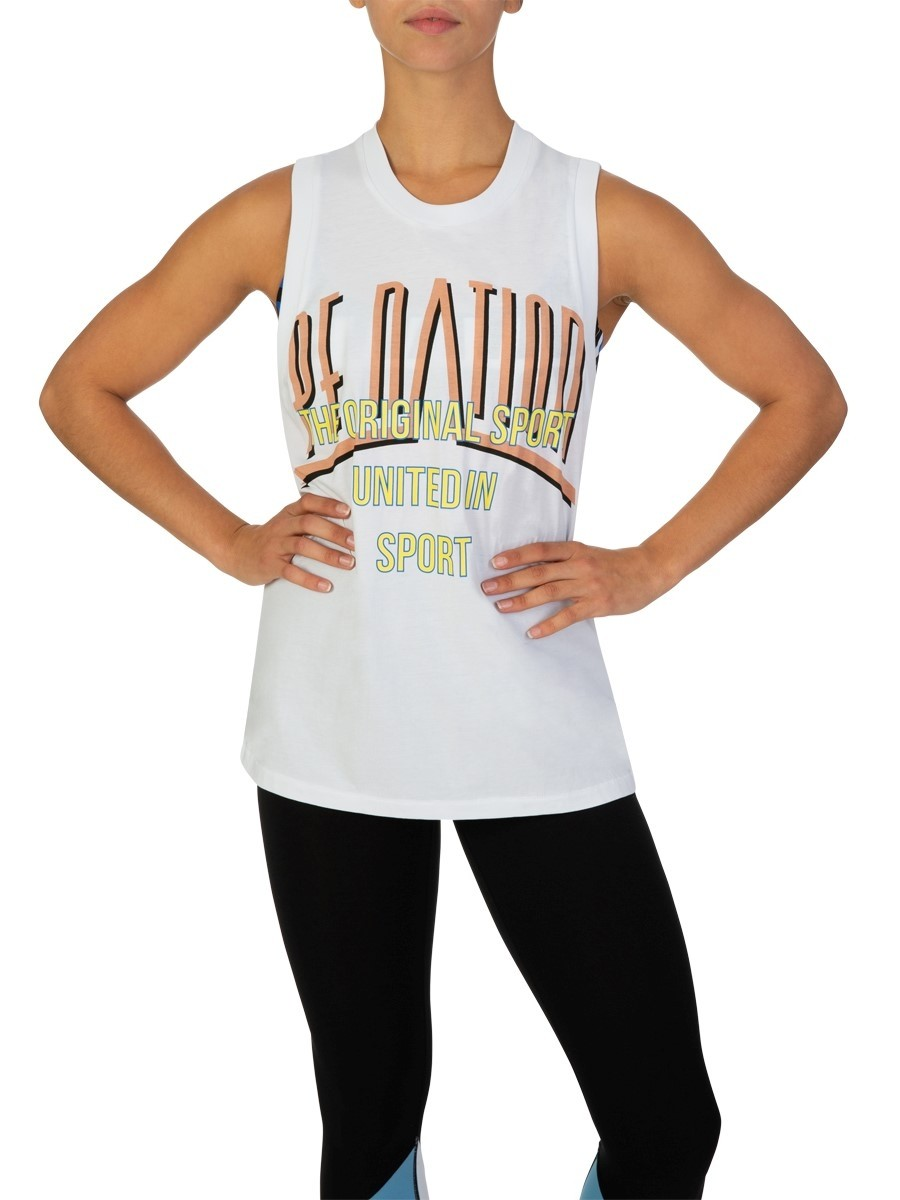 P.E Nation White Rocket Shot Tank Top