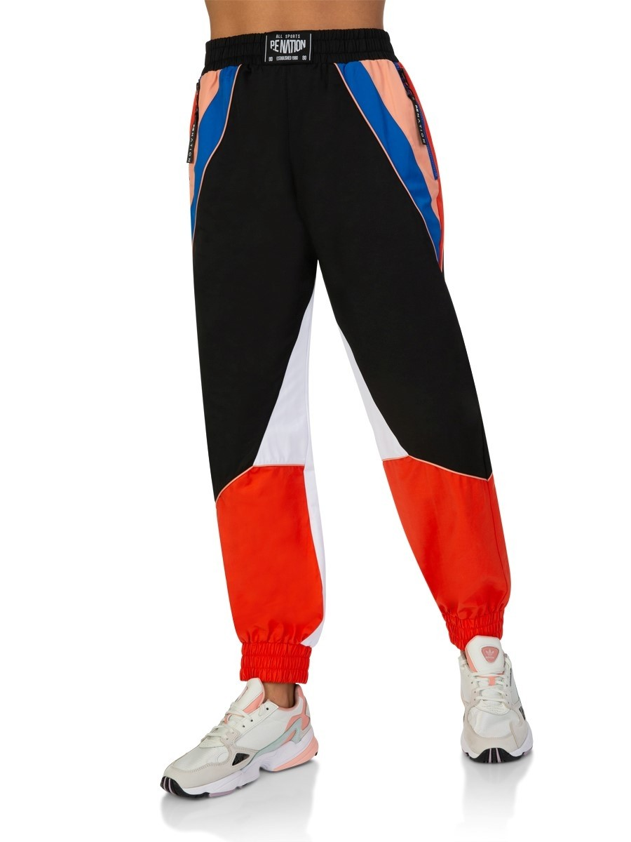 P.E Nation Black Sonic Strike Pants