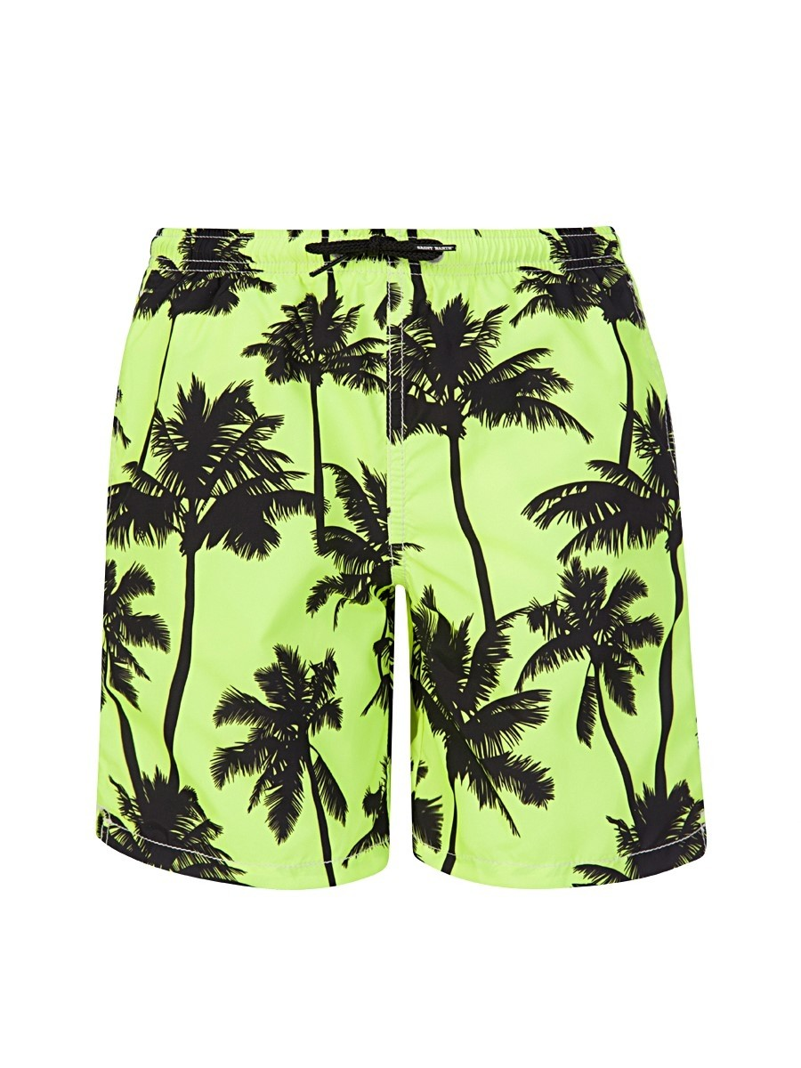 MC2 Saint Barth Green Palm Tree Swim Shorts