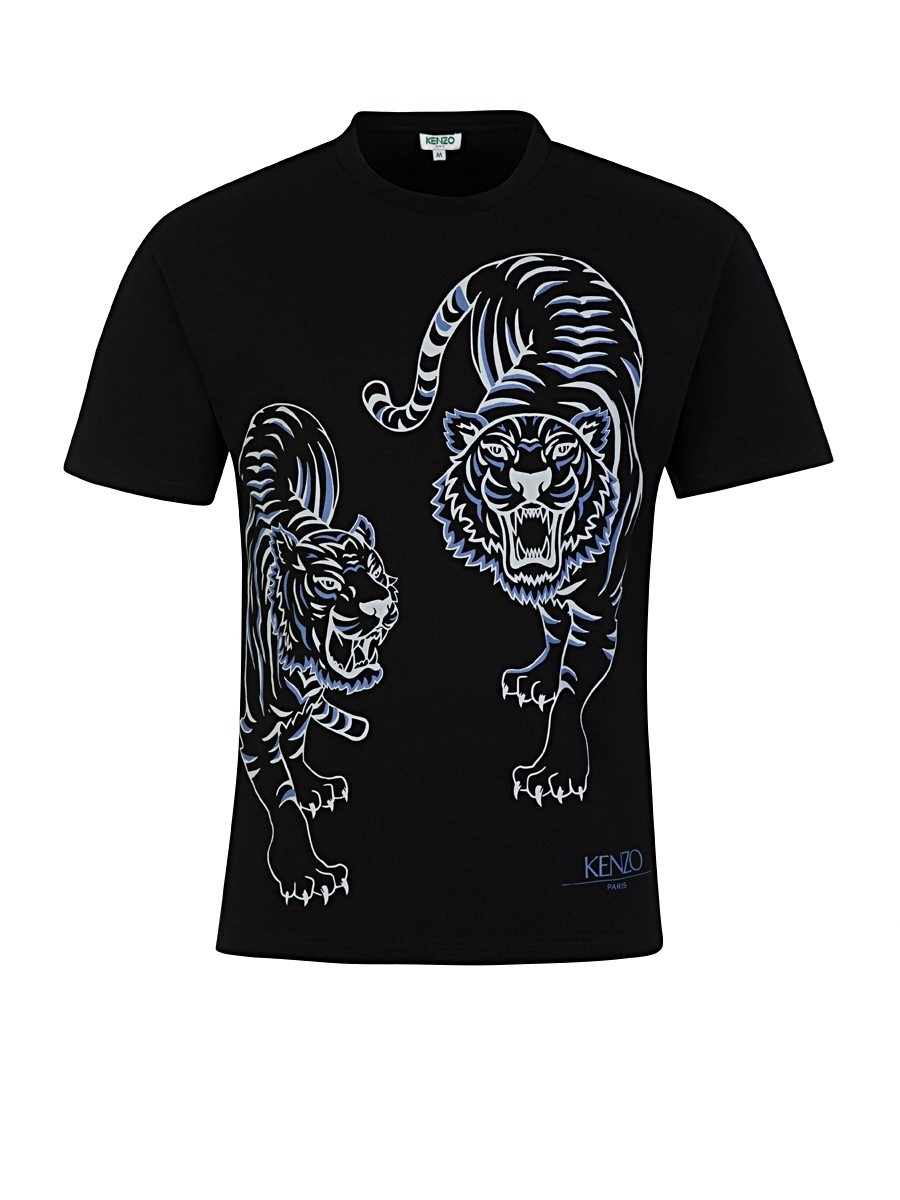 KENZO Black Two Tiger Print T-Shirt