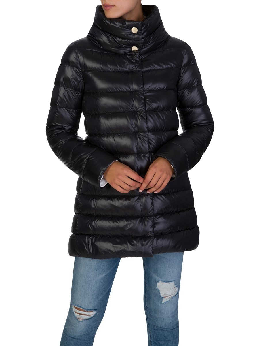 Herno Black Goose Down Puff Jacket