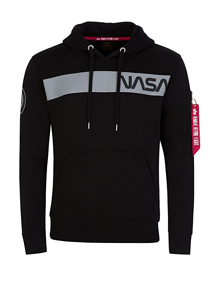 Alpha Industries Black NASA RS Hoodie