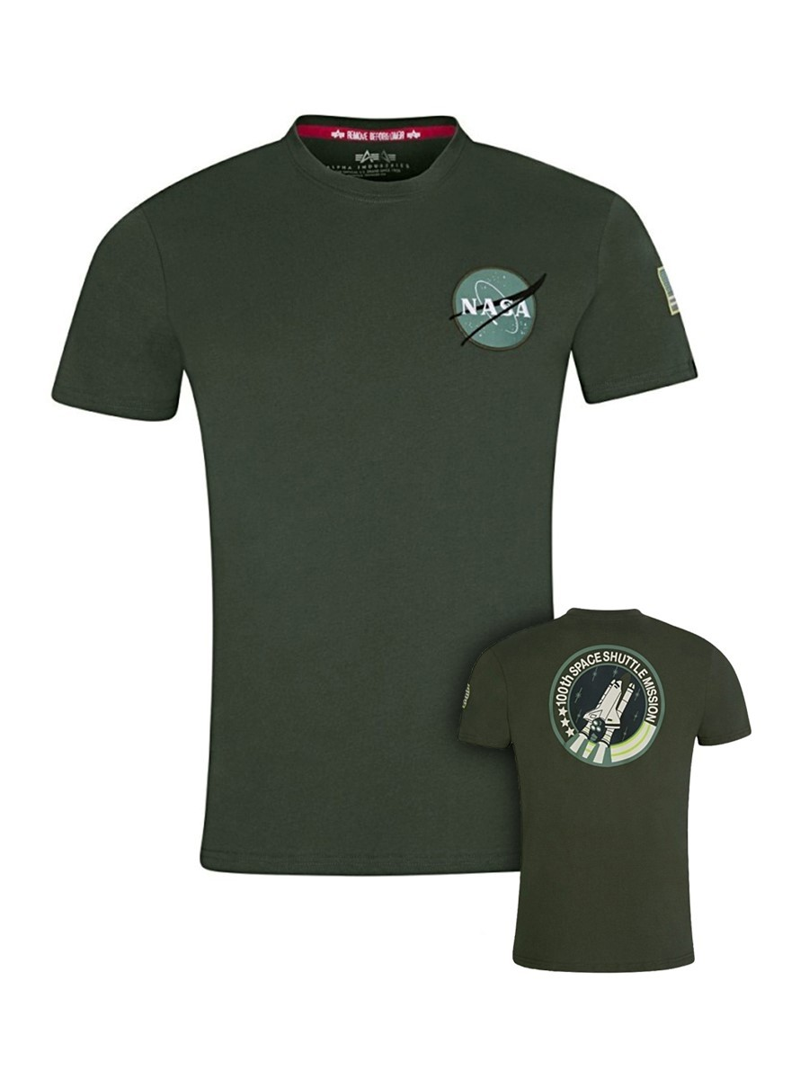 Alpha Industries Green Space Shuttle NASA T-Shirt