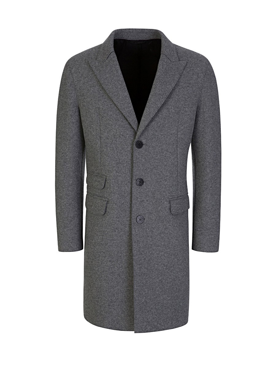 Neil Barrett Grey Skinny Wool Coat