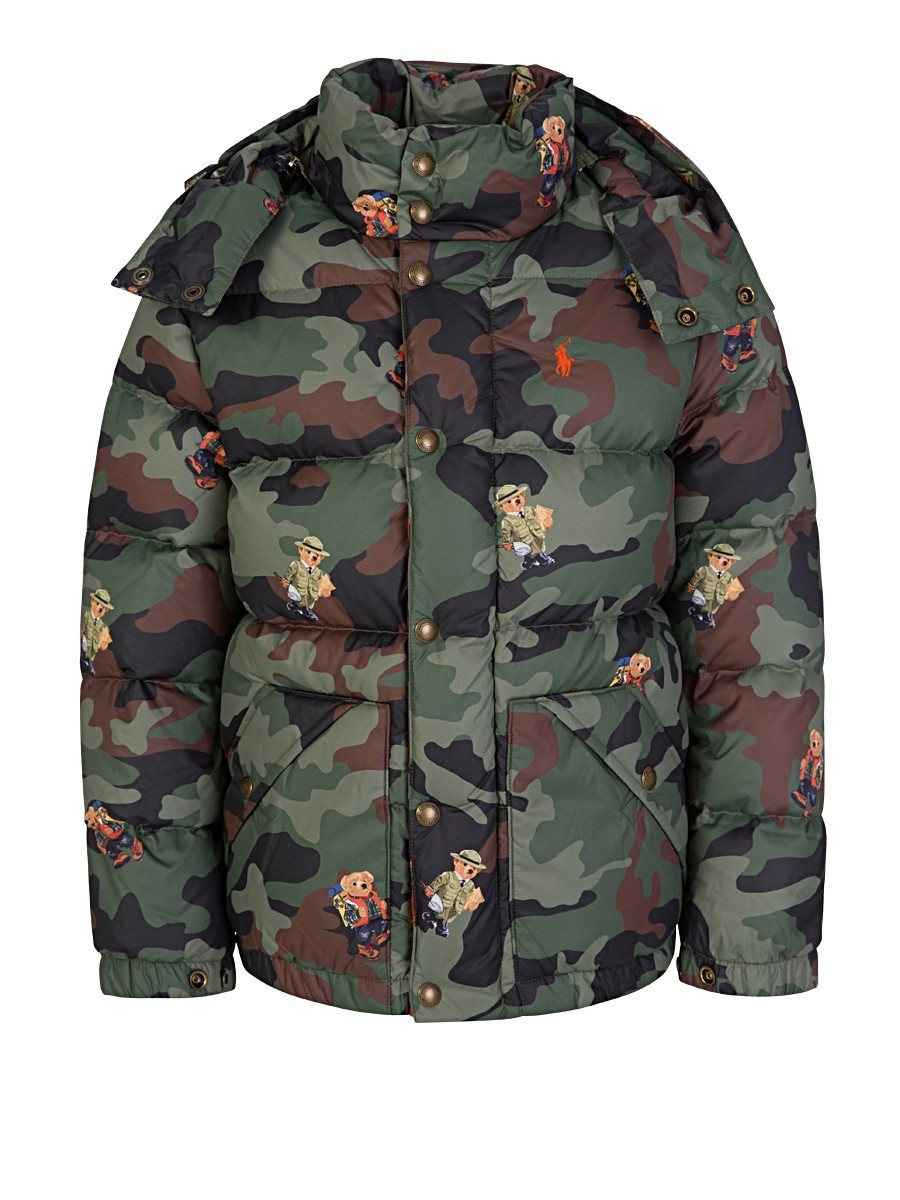 Polo Ralph Lauren Kids Bear Camo Down Jacket