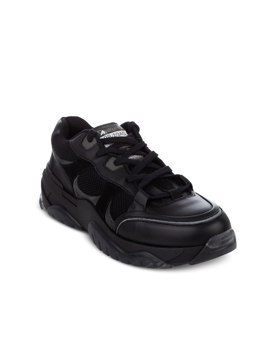 Axel Arigato Black and Mesh Catfish Trainers