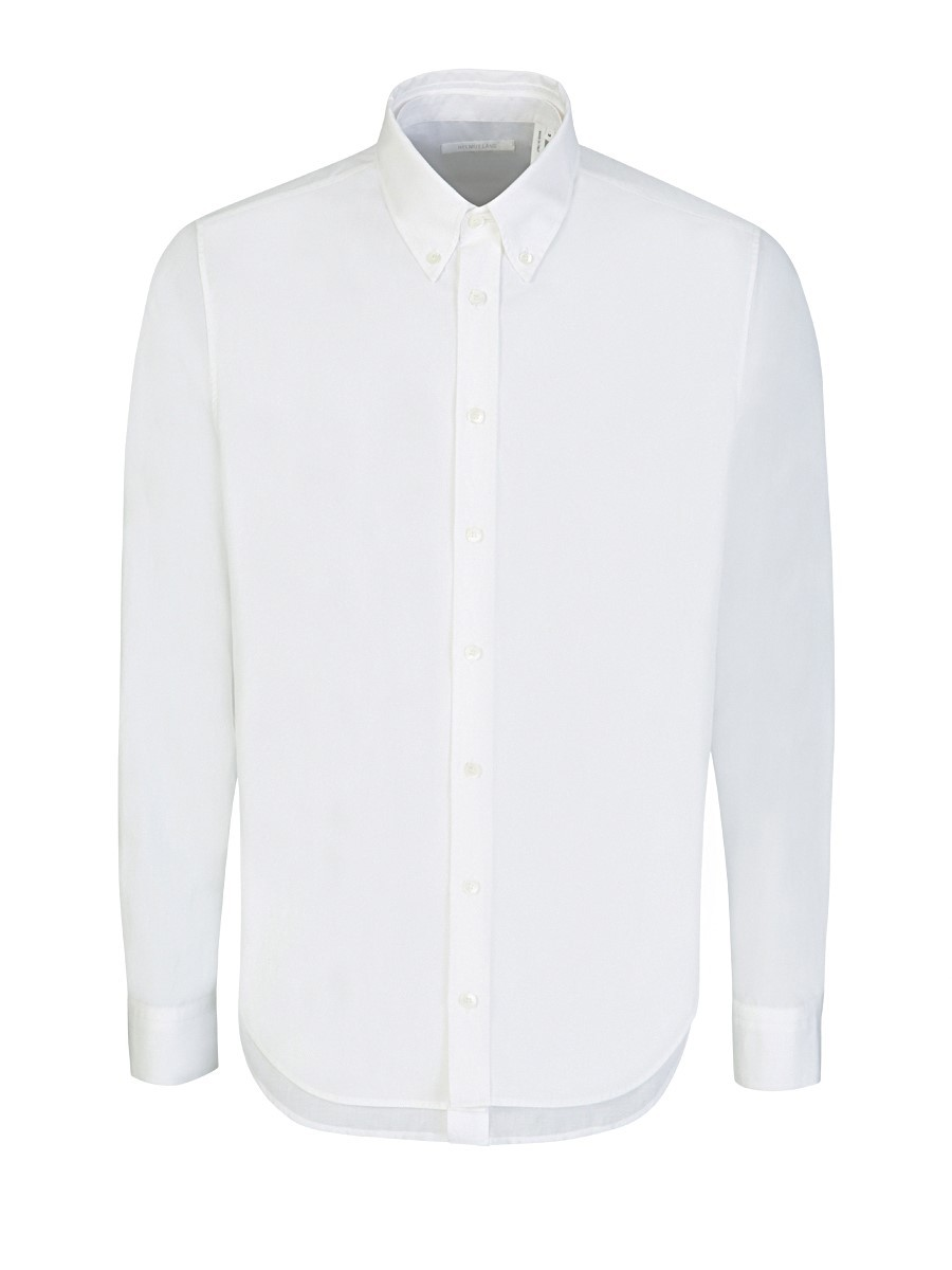 Helmut Lang White Double Front Long-Sleeve Shirt