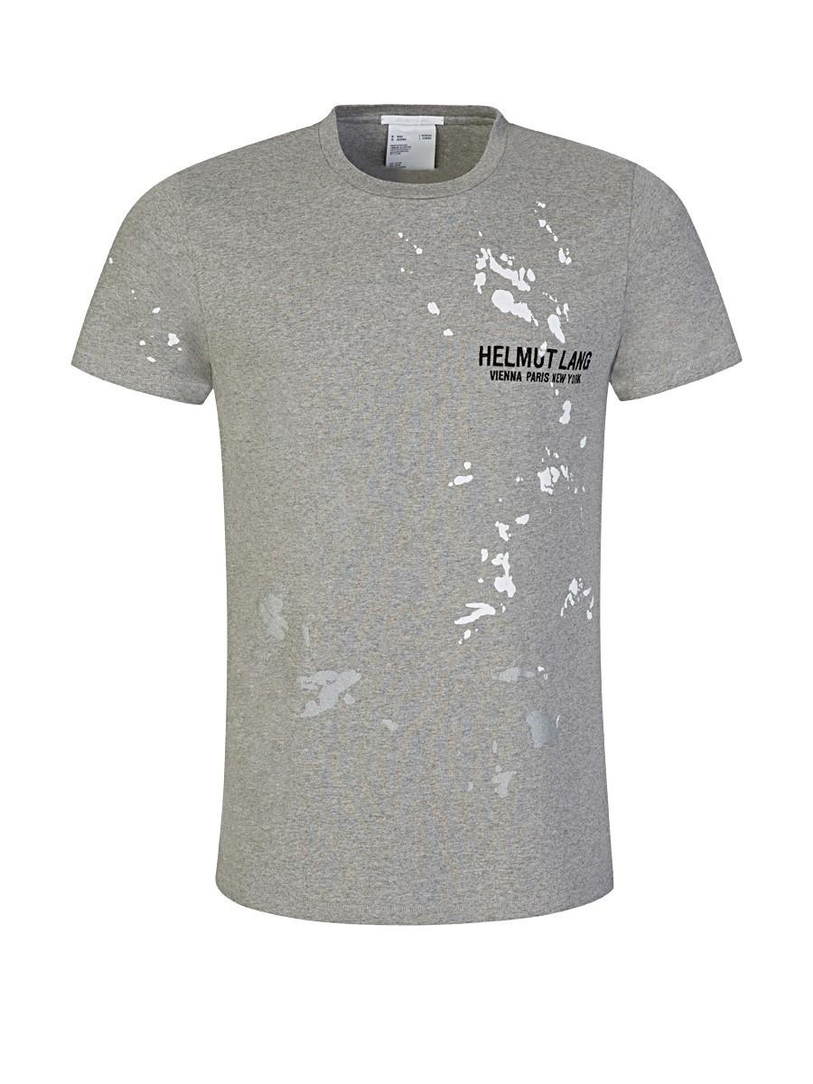 Helmut Lang Grey Painter T-Shirt