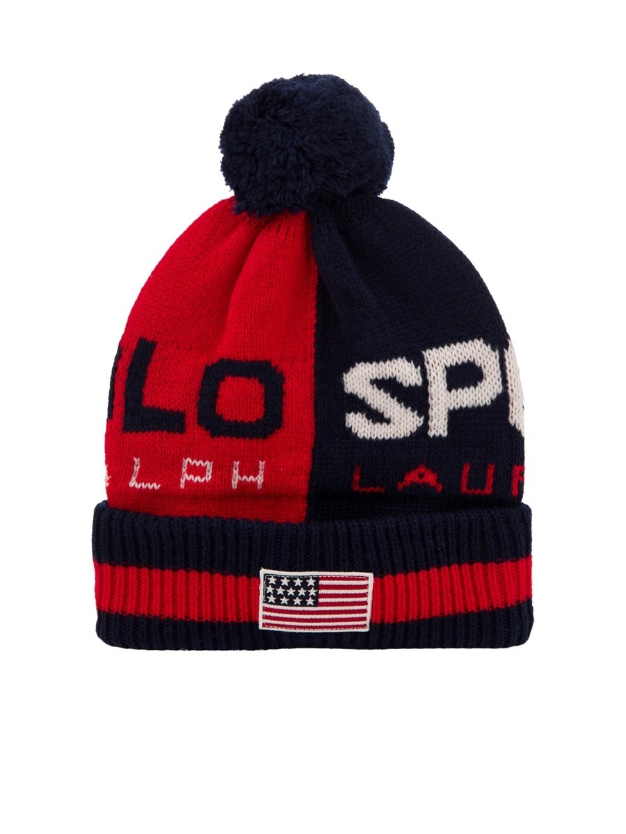Polo Ralph Lauren Red/Navy Polo Sport Bobble Hat