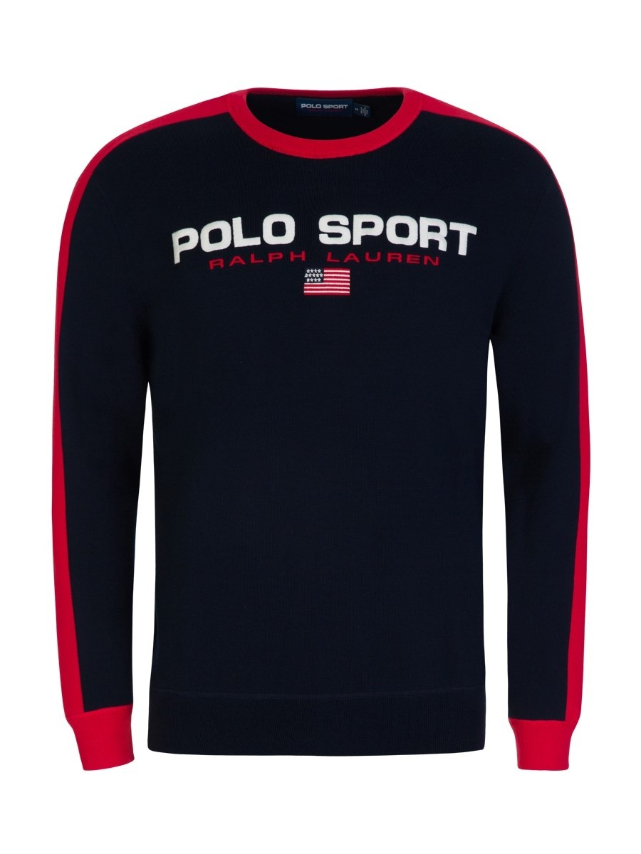 Polo Ralph Lauren Navy Blue Sport Cotton Jumper