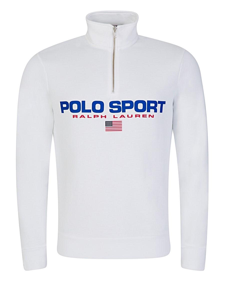 Polo Ralph Lauren Polo Sport White Zip Sweatshirt