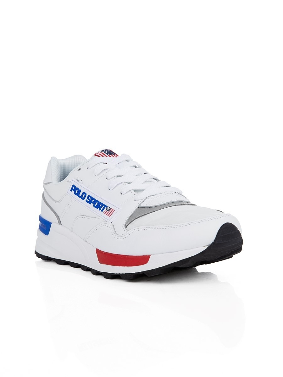 Polo Ralph Lauren White Polo Sport Trackster Trainers