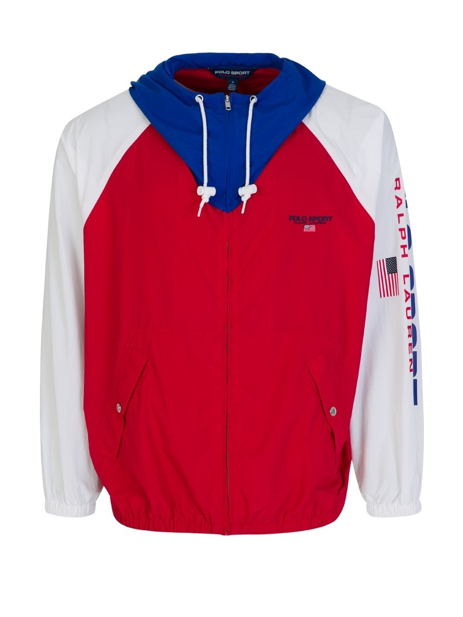 Polo Ralph Lauren Sport Colourblock Hooded Windbreaker Jacket