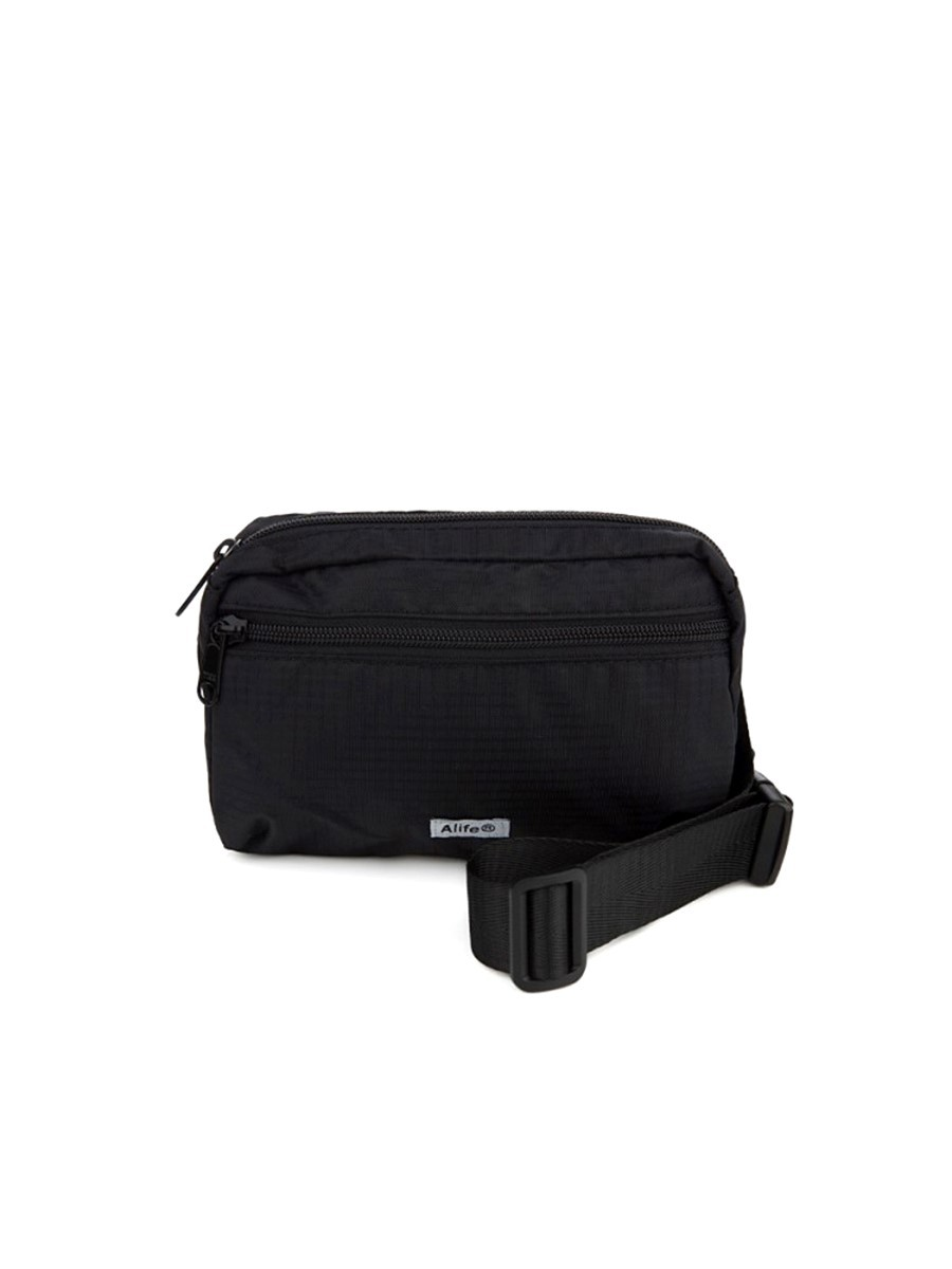 Alife Black Nylon Waist Bag