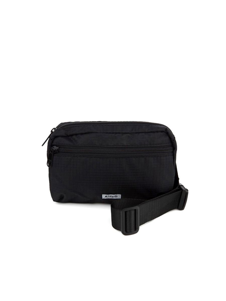 Alife Black Nylon Waist Bag