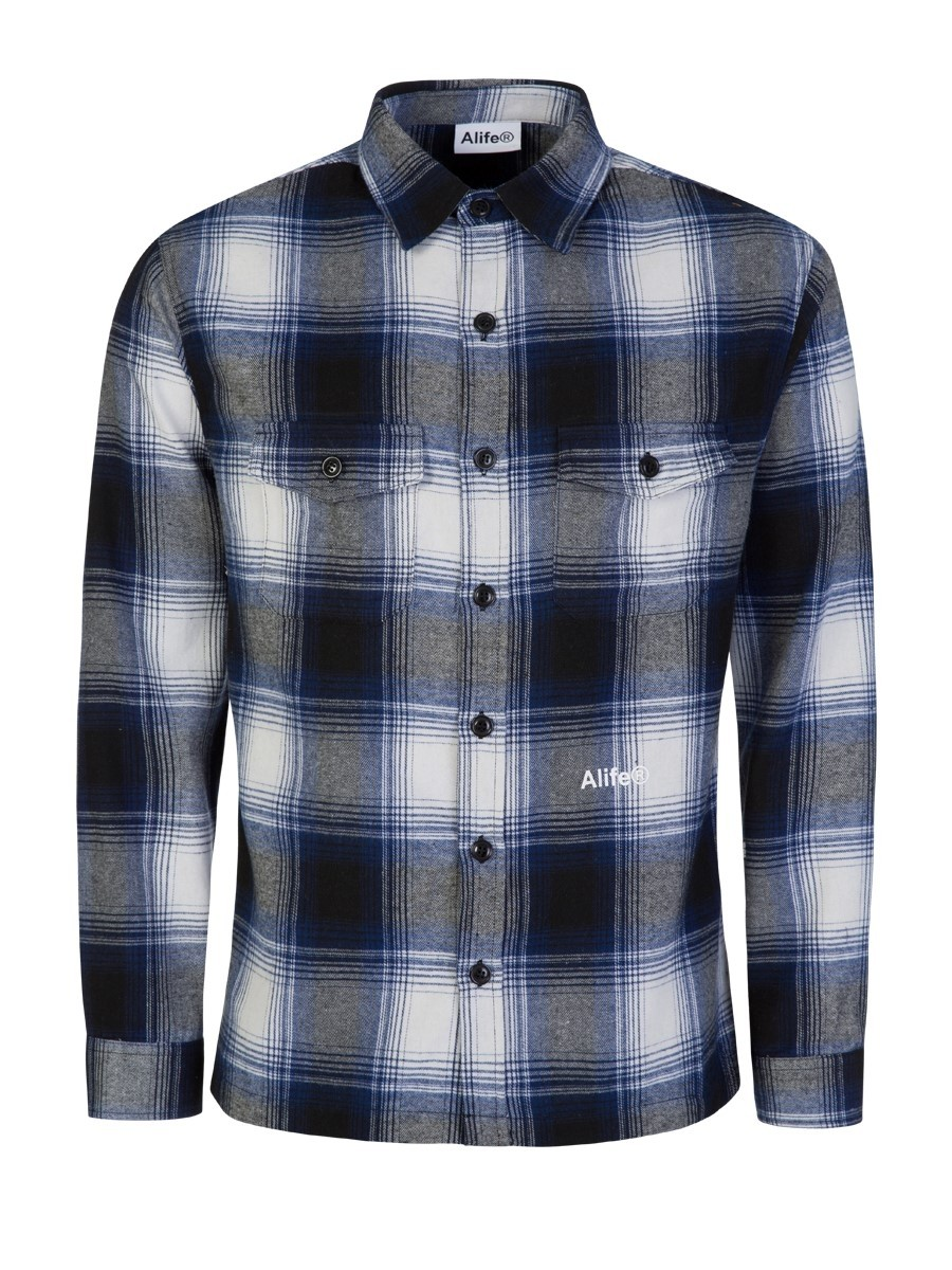 Alife Blue/White Cotton Flannel Shirt
