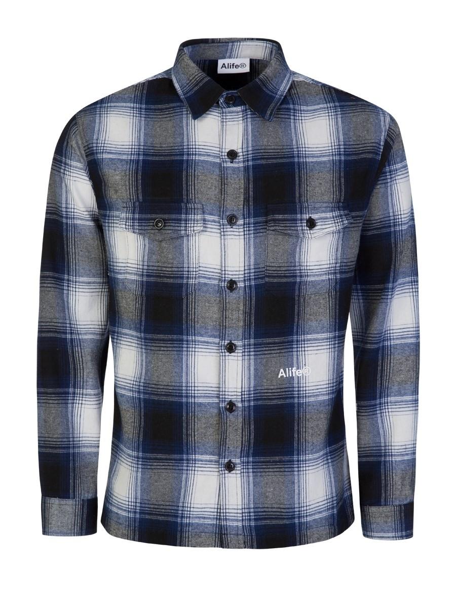 Alife Blue/White Cotton Flannel Shirt