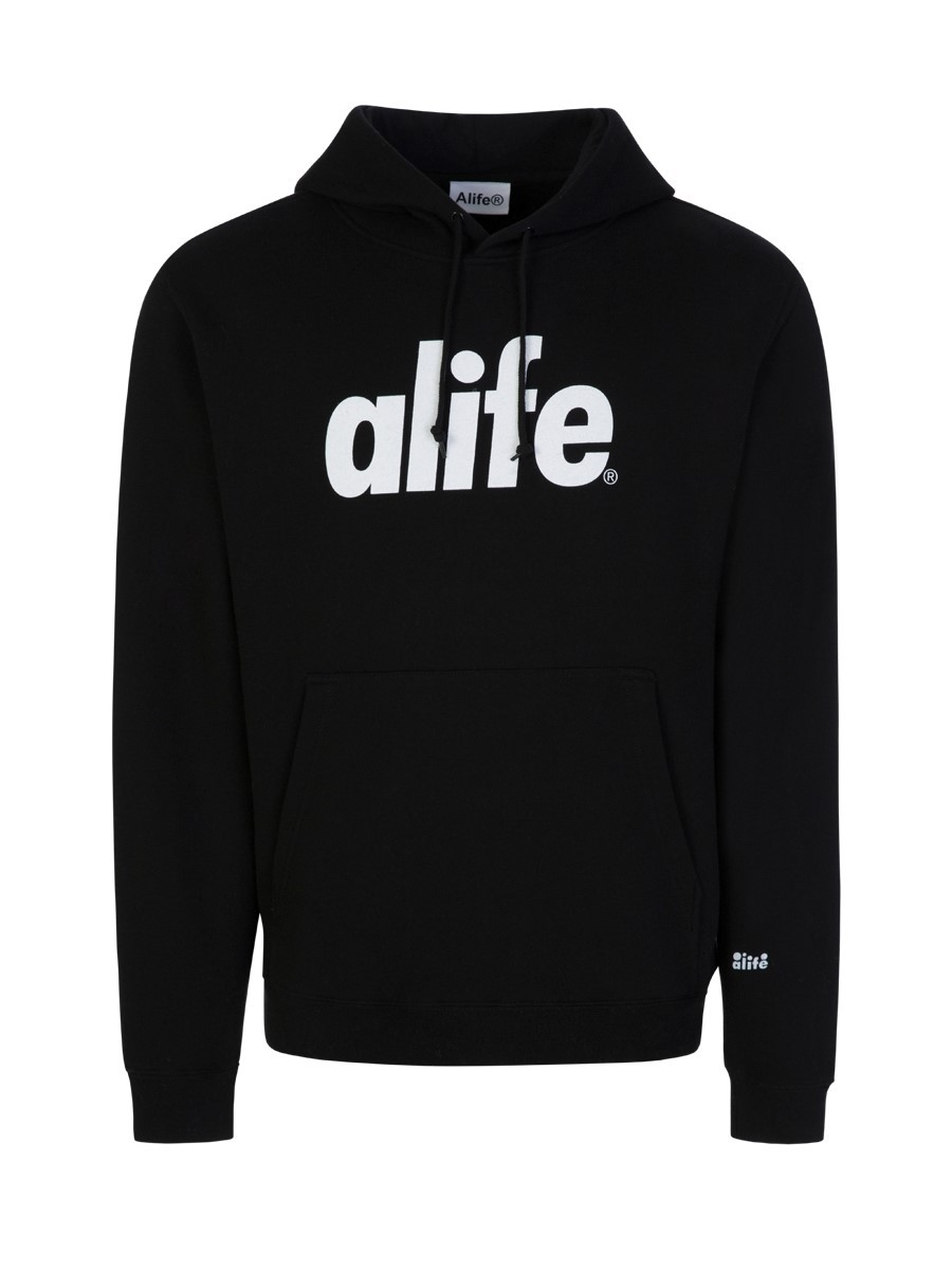 Alife Black Core Logo Hoodie
