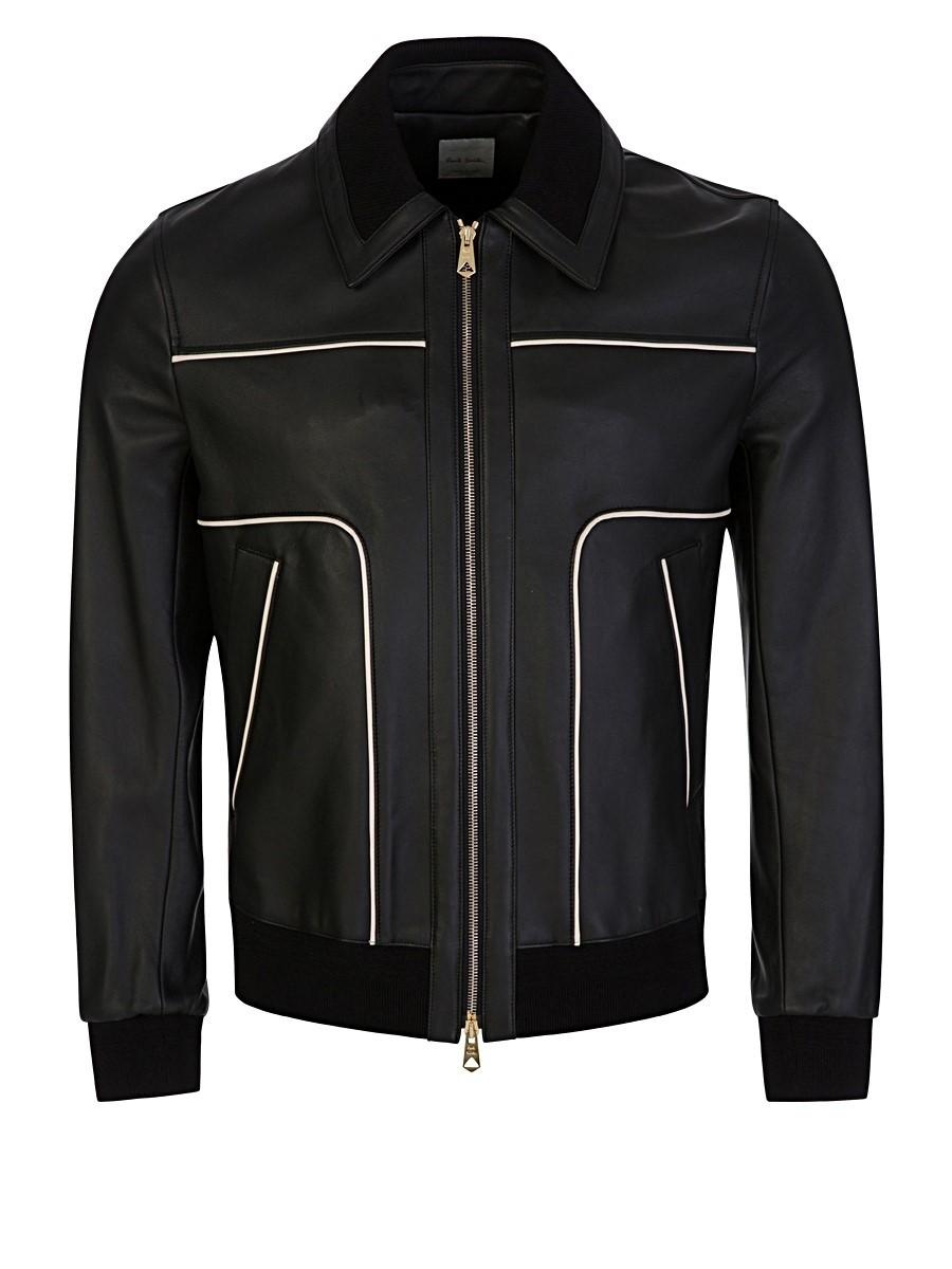 Paul Smith Black Leather Jacket