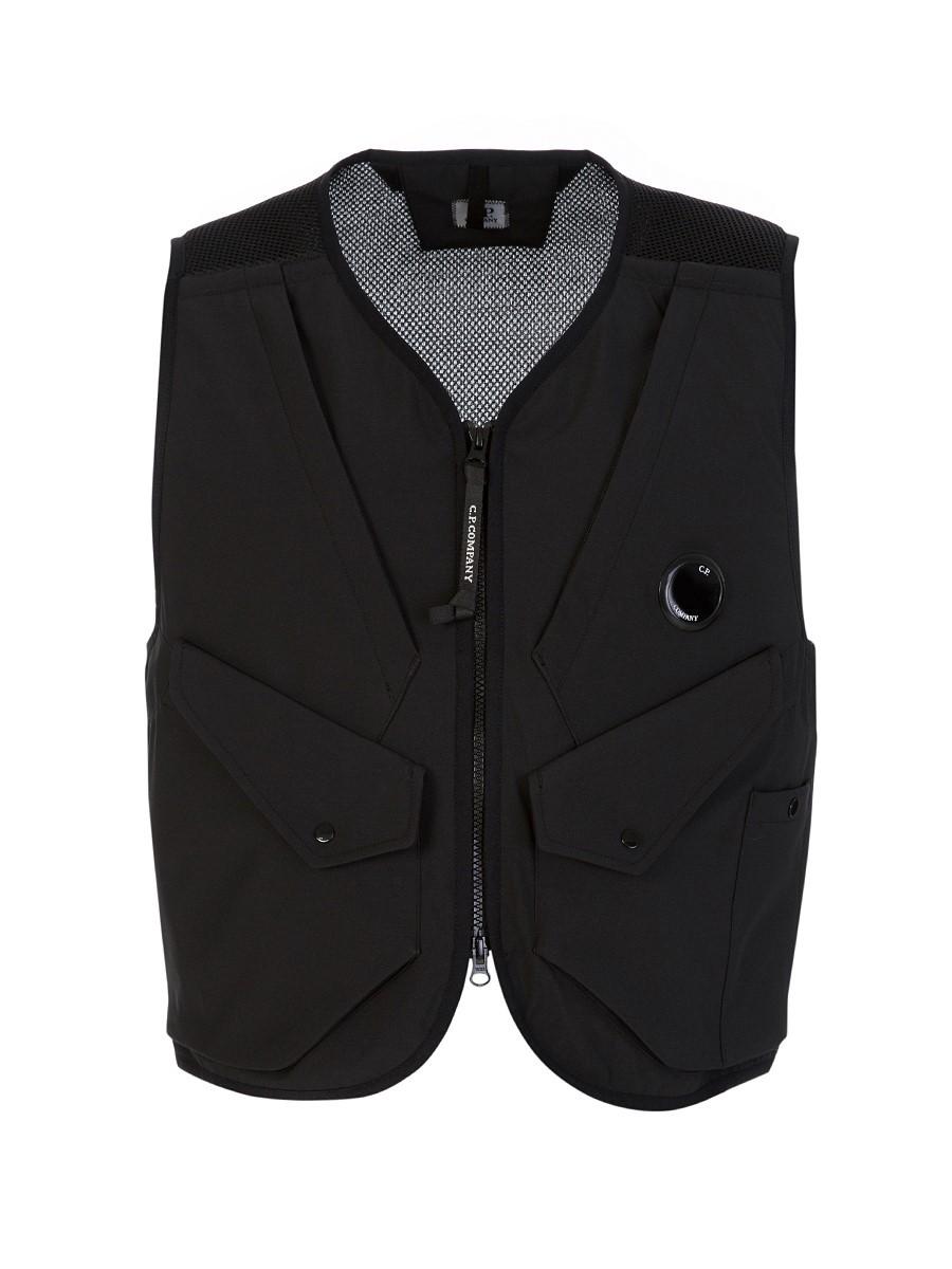 C.P. Company Black Goggle Lens Vest Jacket