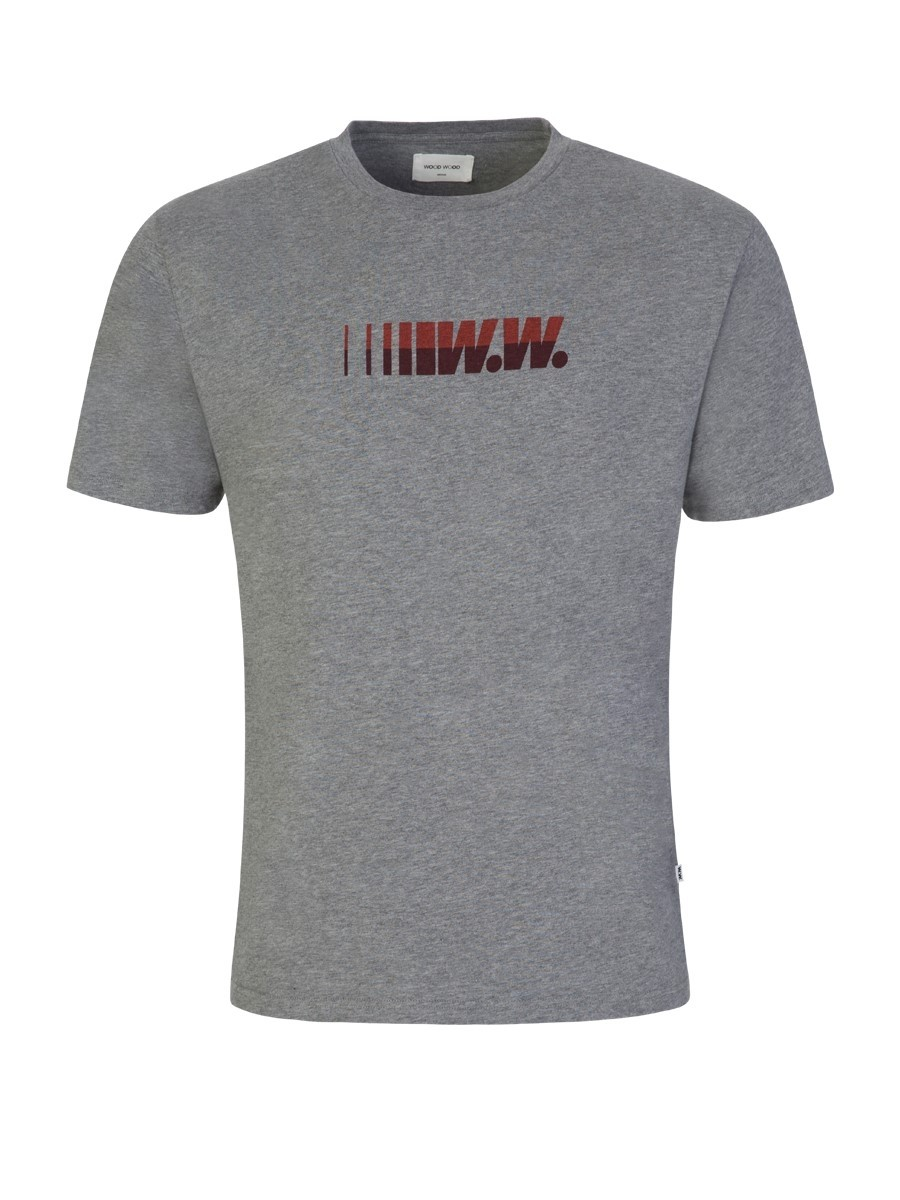 Wood Wood Grey Split T-Shirt
