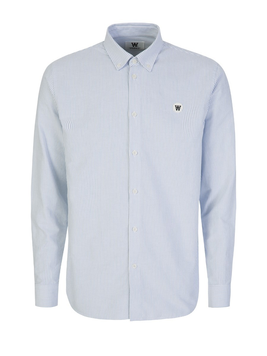 Wood Wood White/Blue Long-Sleeve Ted Shirt